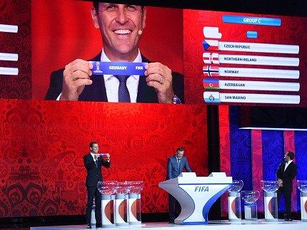 Slavnostní ceremoniál k MS v Rusku: Čeští fotbalisté potkají v kvalifikaci Německo
