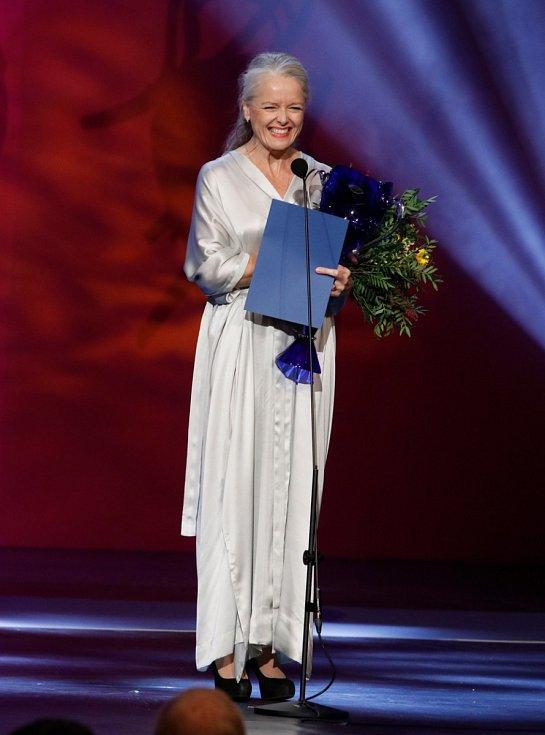 Lucie Trmíková na slavnostním vyhlášení 26. ročníku Ceny Thálie v roce 2019
