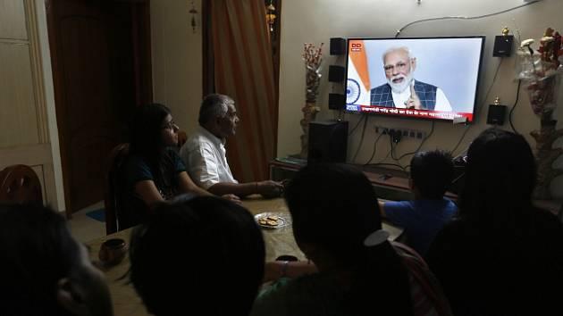 Premiér Narendra Módí oznámil sestřelení satelitu v televizi