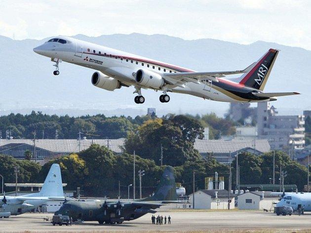 Stroj se na svůj první zkušební let vydal z letiště v Nagoji za jasného počasí a prakticky v bezvětří. O hodinu později se vrátil zpět.