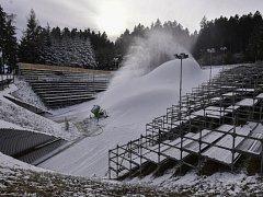 Nedostatek sněhu Světový pohár v biatlonu v Novém Městě na Moravě neohrozí.