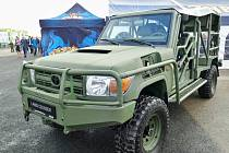 Vojenská vozidla Gepard vyvinutá českými firmami na podvozku Toyoty Landcruiser