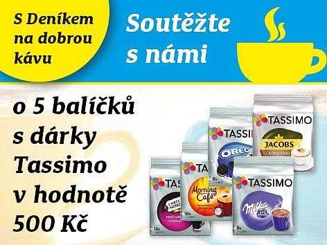 Zapojte se s námi do soutěže o 5 balíčků s dárky  Tassimo  v hodnotě 500 Kč.