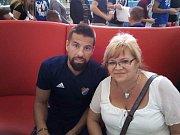 Jsem fanynka Baníku, a tak jsem si fotku s Milanem Barošem nemohla nechat ujít!