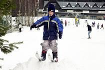 Na Monínci je pořád 80 centimetrů sněhu.