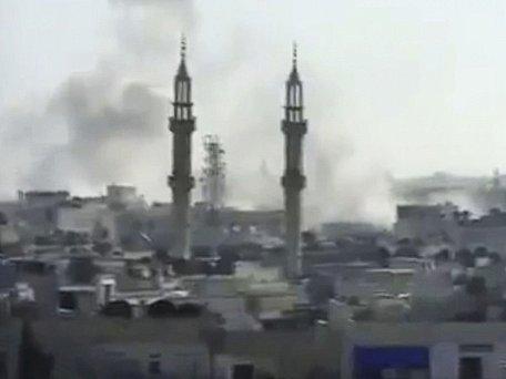 Boje v syrském Homsu. Ilustrační foto