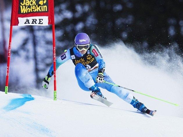 Tina Mazeová ovládla obří slalom v Aare.