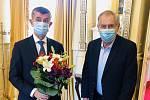 Premiér Andrej Babiš jednal v Lánech s prezidentem Milošem Zemanem