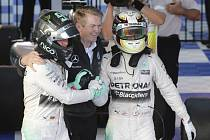 Velká cena Austrálie: Radost pilotů Mercedesu