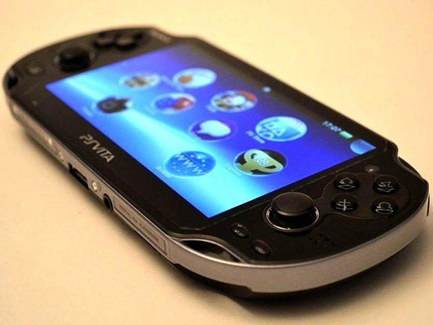 Přenosná herní konzole Playstation Vita.