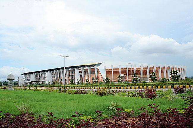 Atletický stadion Indíry Ghándíové na archivním snímku