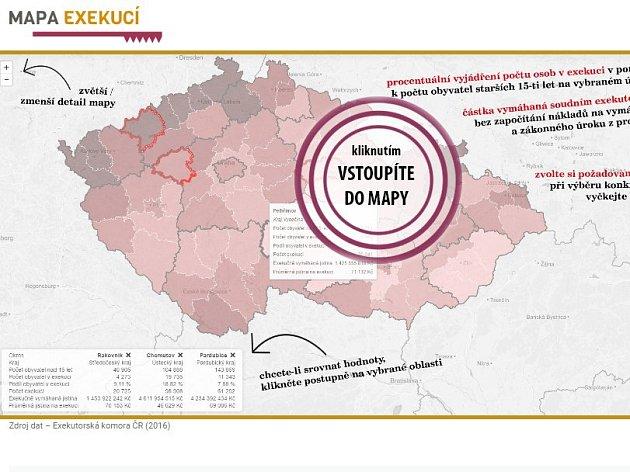 Mapa exekucí