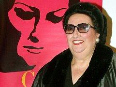Španělská operní pěvkyně Montserrat Caballéová