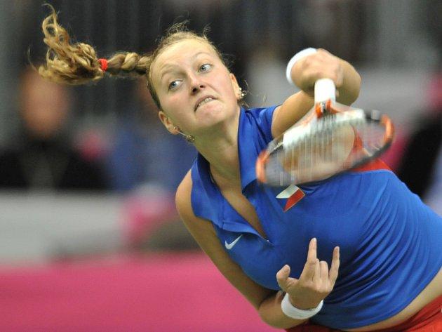 Petra Kvitová zajistila českému fedcupovému týmu dva body a poslala Češky do semifinále Fed Cupu.