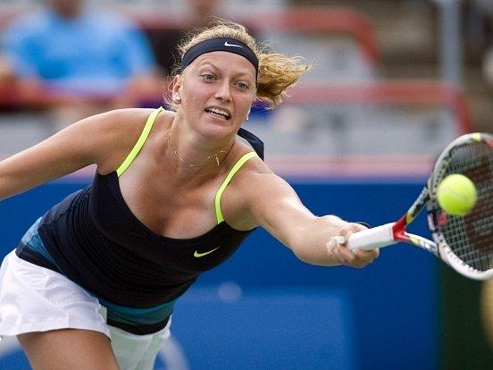 Petra Kvitová v nových šatech na turnaji v Montrealu.