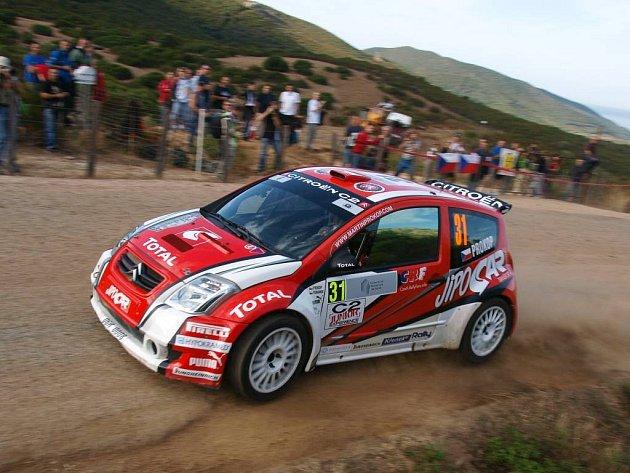Martin Prokop na trati Korsické rallye.