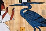 K nejzobrazovanějším ptákům v uměleckých dílech a hieroglyfech patří volavka
