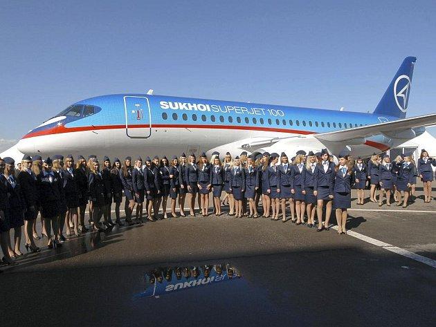 Představení nového letounu Suchoj SuperJet 100.