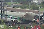 Tragická nehoda vlaků ve Studénce