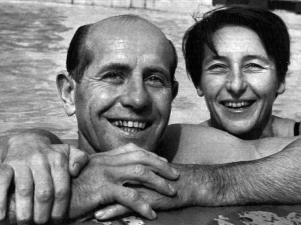 Manželé Emil a Dana Zátopkovi.
