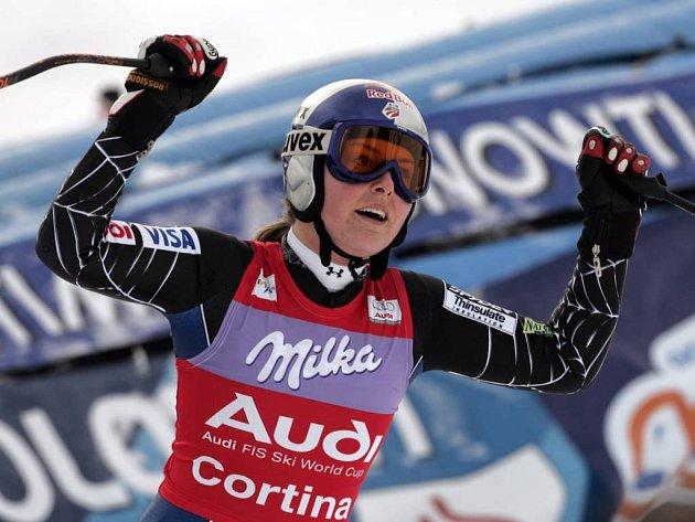 Američanka Lindsey Vonnová vyhrála sjezd v Cortině.