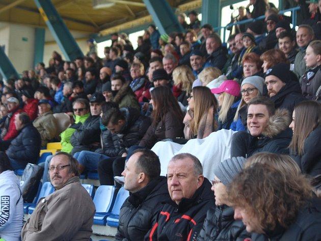 Fanoušci při zápase Zlín - Olomouc