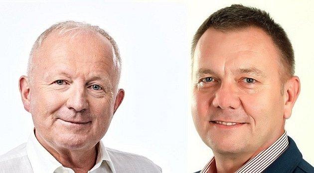 Obvod 75 - Karviná, Ondřej Feber (ANO) vlevo, Radek Sušil (ČSSD)