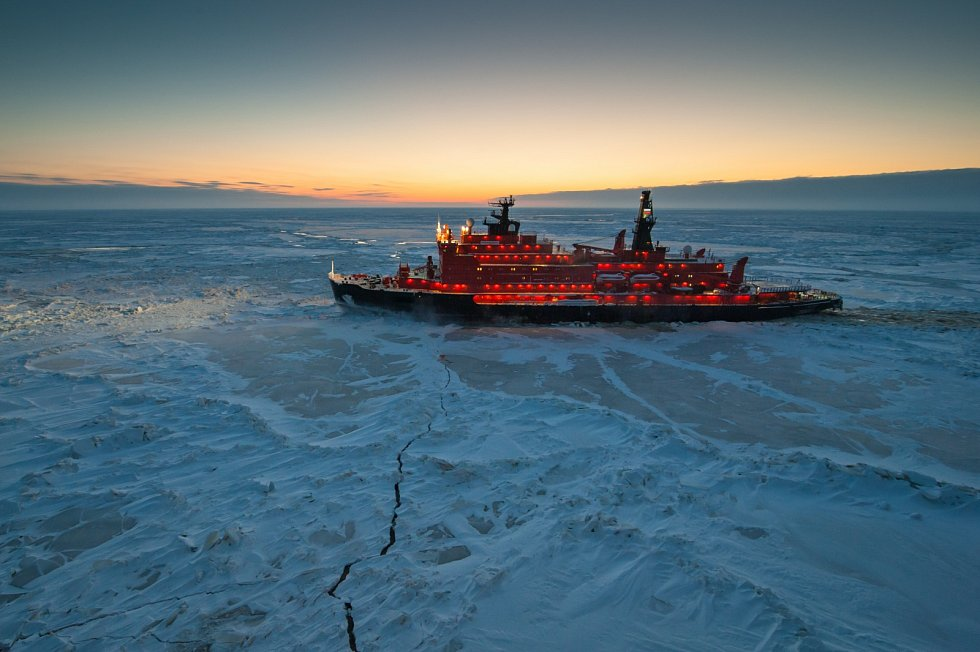Ledoborec na území Arktidy.