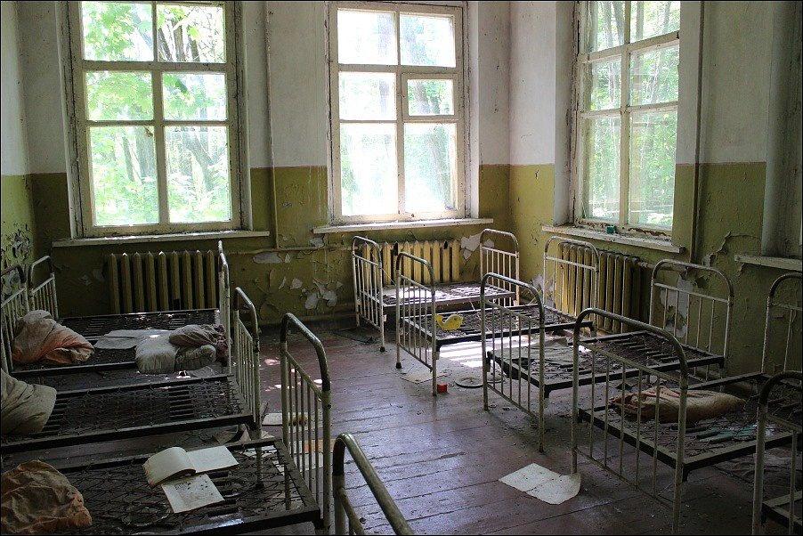 Bývalá nemocnice v Černobylu