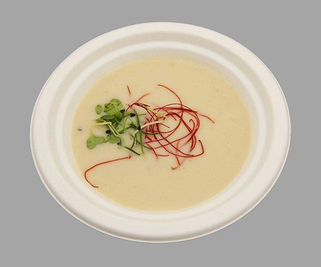 Chřestový chilli krém skokosovým mlékem