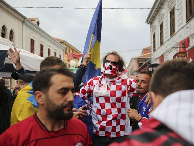 Chorvatští fanoušci.