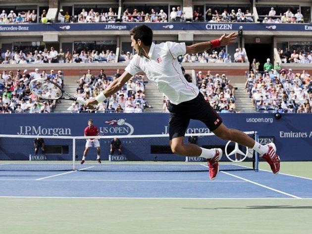 Novak Djokovič v semifinále US Open.