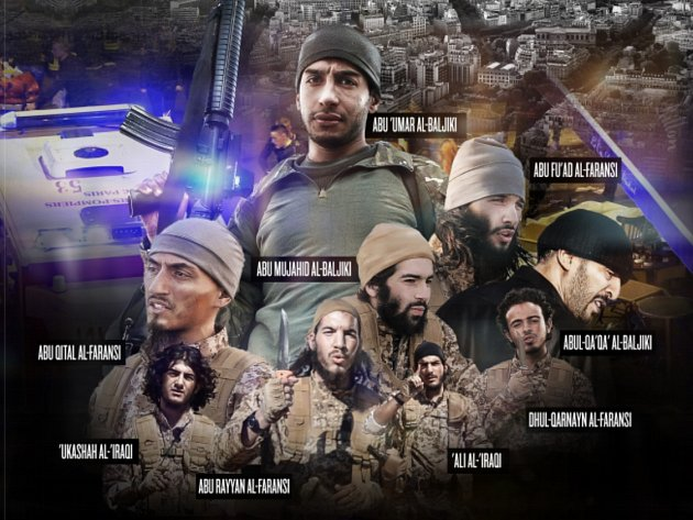 Časopis Dábiq zveřejnil fotografie pařížských atentátníků.