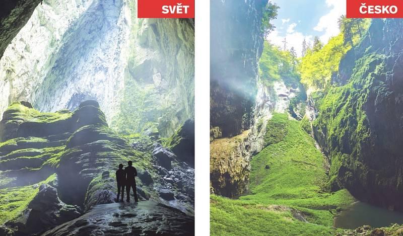 Jeskyně Son Doong (Vietnam) x Punkevní jeskyně a propast Macocha.
