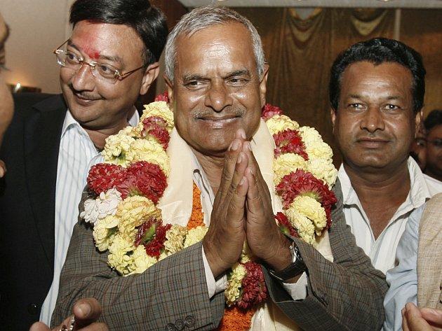 Rám Baran Jadav, první nepálský prazident po svém zvolení nepálským parlamentem.