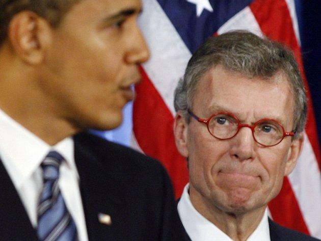 Barack Obama a Tom Daschle na snímku z loňského listopadu.