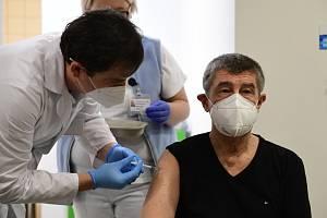 Očkování premiéra Andreje Babiše