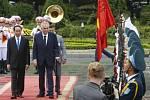 Miloš Zeman a prezident Vietnamu Tran Dai Quang
