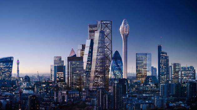 Londýnský mrakodrap Tulipán.