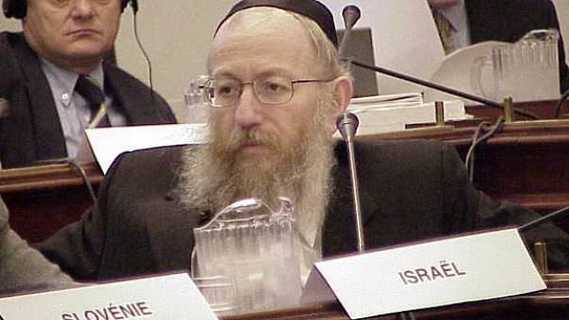 Izraelský politik Ja'akov Litzman