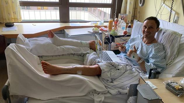 Libor Podmol v nemocnici
