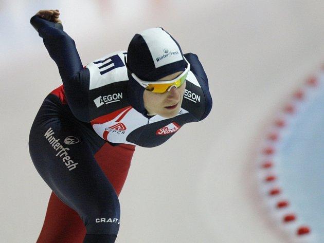 Rychlobruslařka Martina Sáblíková vyhrála v rekordu dráhy závod SP na 3000 metrů v Erfurtu.