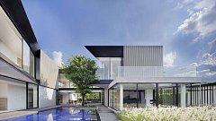 Dům s hliníkovou fasádou