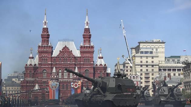 Vojenská přehlídka v Moskvě k oslavě výročí vítězství Ruska ve 2. světové válce
