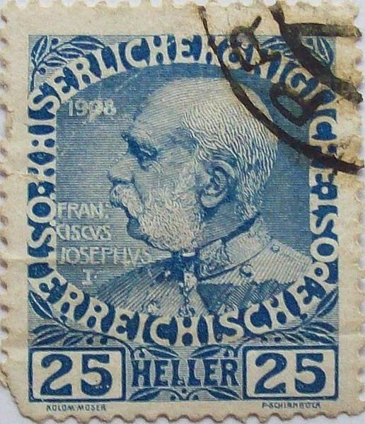známka s císařem Františkem Josefem I.