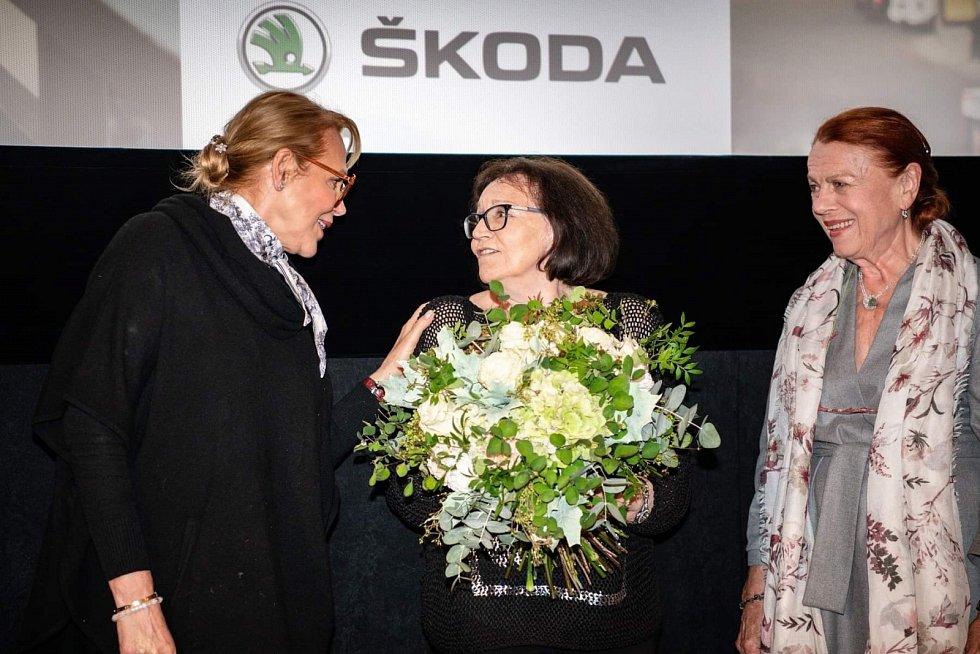 Dagmar Havlová, Marta Kubišová a Iva Janžurová na křestu videoklipu k písni Modlitba pro Martu