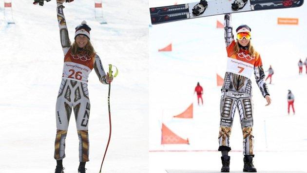 Legenda. Ester Ledecká vyhrála na olympijských hrách super-G na lyžích i paralelní obří slalom na snowboardu.