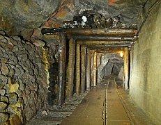 Historická těžba nedaleko města Zinnwald v Sasku.