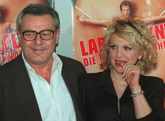 Miloš Forman s Courtney Love