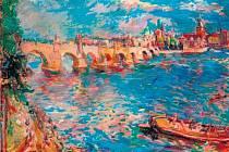Z DÍLA OSKARA KOKOSCHKY. Pohled na Prahu je jedním z šestnácti obrazů, které rakouský expresionista ve 30. letech namaloval okouzlen náladou stověžatého města na Vltavě.